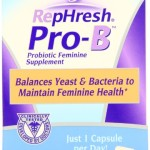 RepHresh Pro-B Probiotic Feminine Supplement, 30-Count Capsules