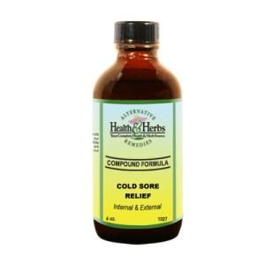 Alternative Health & Herbs Remedies Cold Sores, internal & External, 4-Ounce Bottle