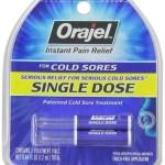 Orajel Single Dose Cold Sore Treatment, 0.04 Fluid Ounce